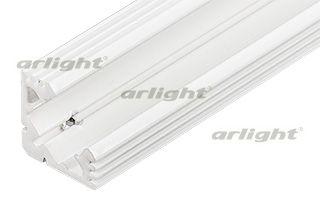 Алюминиевый анодированный БЕЛЫЙ угловой профиль, без экрана (отдельно), для светодиодной ленты, лине Arlight