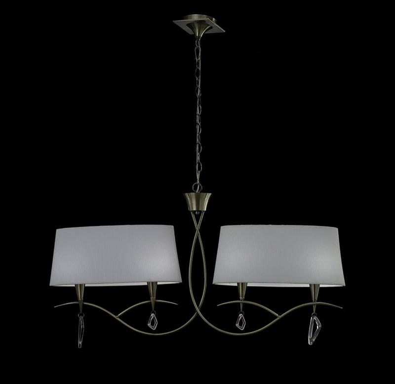 Потолочная люстра подвесная 1622 Mantraподвесные<br>ANTIQUE BRASS - WHITE SHADE. Бренд - Mantra. материал плафона - ткань. цвет плафона - белый. тип цоколя - E14. тип лампы - накаливания или LED. ширина/диаметр - 1115. мощность - 20. количество ламп - 4.<br><br>популярные производители: Mantra<br>материал плафона: ткань<br>цвет плафона: белый<br>тип цоколя: E14<br>тип лампы: накаливания или LED<br>ширина/диаметр: 1115<br>максимальная мощность лампочки: 20<br>количество лампочек: 4