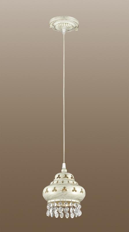 Подвесной  потолочный светильник 2842/1подвесные<br>2842/1 ODL16 157 белый/зол.патина /декор хрусталь Подвес E14 40W 220V BAHAR. Бренд - Odeon Light. тип лампы - накаливания или LED. количество ламп - 1. тип цоколя - E14. мощность - 40. цвет арматуры - белый. цвет плафона - белый. материал арматуры - металл. материал плафона - металл. высота - 1200. ширина/диаметр - 165. длина - 165. степень защиты ip - 20. форма - круг. стиль - классический. страна происхождения - Италия. коллекция - BAHAR. напряжение - 220.<br><br>Бренд: Odeon Light<br>тип лампы: накаливания или LED<br>количество ламп: 1<br>тип цоколя: E14<br>мощность: 40<br>цвет арматуры: белый<br>цвет плафона: белый<br>материал арматуры: металл<br>материал плафона: металл<br>высота: 1200<br>ширина/диаметр: 165<br>длина: 165<br>степень защиты ip: 20<br>форма: круг<br>стиль: классический<br>страна происхождения: Италия<br>коллекция: BAHAR<br>напряжение: 220