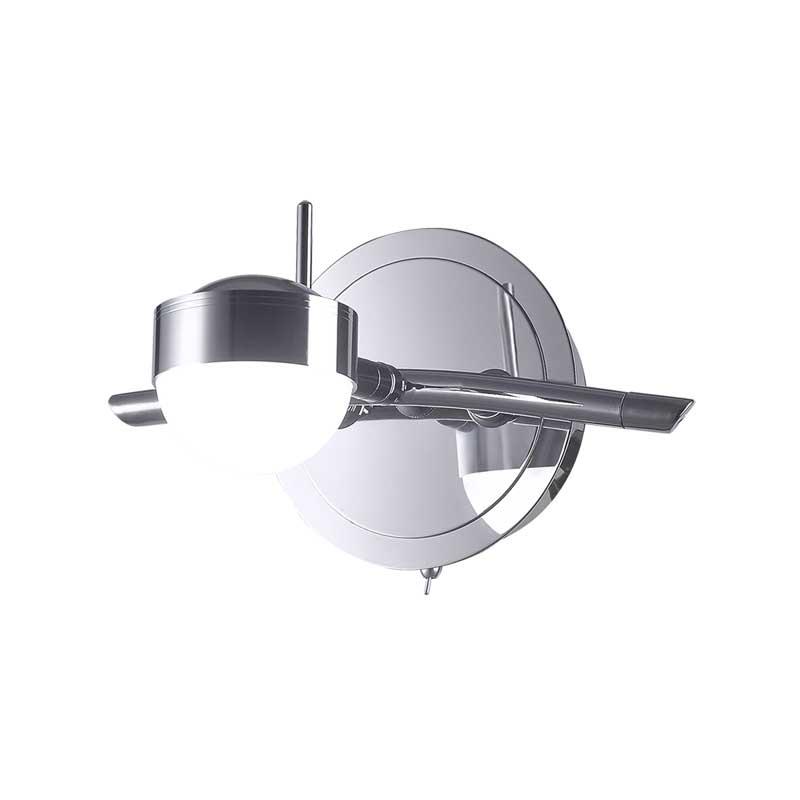 Бра 348/1A-Chrome IDLampНастенные и бра<br>Настенный. Бренд - IDLamp. материал плафона - пластик. цвет плафона - белый. тип лампы - LED. ширина/диаметр - 160. мощность - 5. количество ламп - 1.<br><br>популярные производители: IDLamp<br>материал плафона: пластик<br>цвет плафона: белый<br>тип лампы: LED<br>ширина/диаметр: 160<br>максимальная мощность лампочки: 5<br>количество лампочек: 1