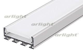 Алюминиевый анодированный профиль для создания световых полос. Крепление к гипсокартону пружинами PL Arlight