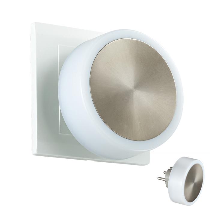 Ночник 357322 NovotechНочники<br>357322 NT16 069 белый/сталь Светильник-ночник (в розетку) с выкл IP20 24 LEDx0.06W 220V NIGHT LIGHT. Бренд - Novotech. материал плафона - пластик. цвет плафона - белый. тип лампы - LED. ширина/диаметр - 78. мощность - 0.06. количество ламп - 24.<br><br>популярные производители: Novotech<br>материал плафона: пластик<br>цвет плафона: белый<br>тип лампы: LED<br>ширина/диаметр: 78<br>максимальная мощность лампочки: 0.06<br>количество лампочек: 24
