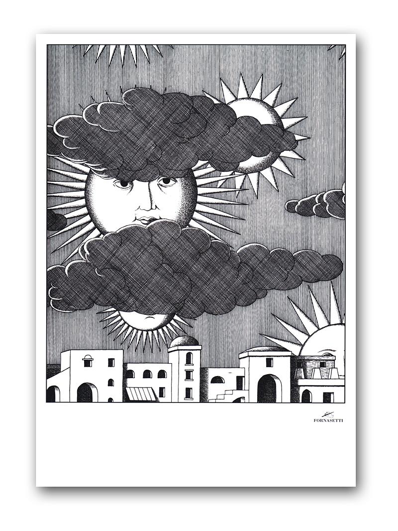 Постер Sunny Fornasetti А4 DG-HOME от Дивайн Лайт