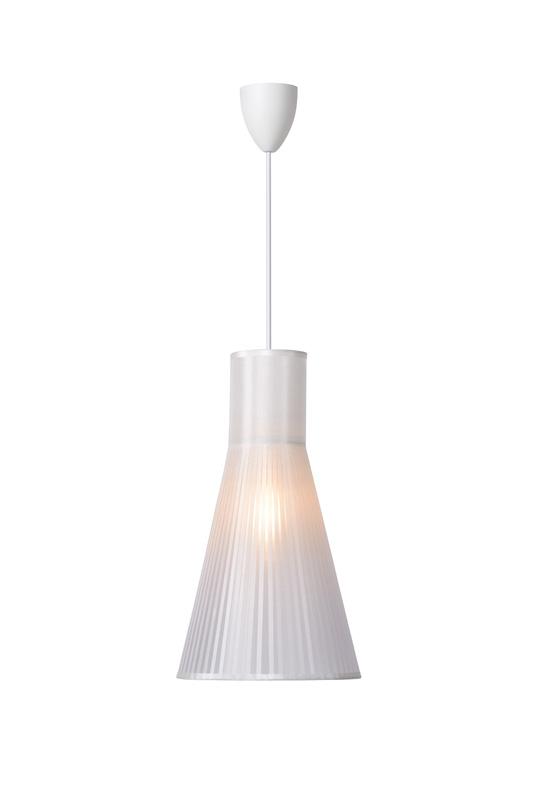 Подвесной  потолочный светильник 06409/01/31 LUCIDEподвесные<br>LIMA Pendant E14 D21 H38cm White. Бренд - LUCIDE. материал плафона - пластик. цвет плафона - белый. тип цоколя - E14. тип лампы - накаливания или LED. ширина/диаметр - 200. мощность - 40. количество ламп - 1.<br><br>популярные производители: LUCIDE<br>материал плафона: пластик<br>цвет плафона: белый<br>тип цоколя: E14<br>тип лампы: накаливания или LED<br>ширина/диаметр: 200<br>максимальная мощность лампочки: 40<br>количество лампочек: 1