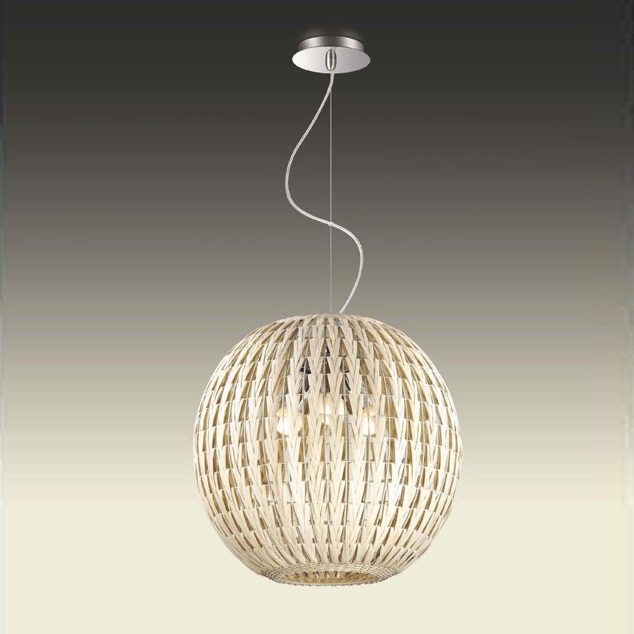Подвесной  потолочный светильник 2492/3A Odeon Lightподвесные<br>2492/3A ODL13 667 никель/ротанг кремов Подвес  E27 3*60W 220V KENI. Бренд - Odeon Light. материал плафона - ротанг. цвет плафона - белый. тип цоколя - E27. тип лампы - галогеновая или LED. ширина/диаметр - 400. мощность - 60. количество ламп - 3.<br><br>популярные производители: Odeon Light<br>материал плафона: ротанг<br>цвет плафона: белый<br>тип цоколя: E27<br>тип лампы: галогеновая или LED<br>ширина/диаметр: 400<br>максимальная мощность лампочки: 60<br>количество лампочек: 3