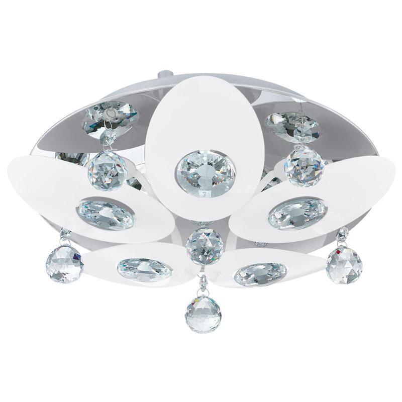 Потолочная люстра накладная 92769 EGLOнакладные<br>Люстра TESSERA, 5X18W (G9), IP20 . Бренд - EGLO. материал плафона - стекло. цвет плафона - прозрачный. тип цоколя - G9. тип лампы - галогеновая или LED. ширина/диаметр - 320. мощность - 18. количество ламп - 5.<br><br>популярные производители: EGLO<br>материал плафона: стекло<br>цвет плафона: прозрачный<br>тип цоколя: G9<br>тип лампы: галогеновая или LED<br>ширина/диаметр: 320<br>максимальная мощность лампочки: 18<br>количество лампочек: 5