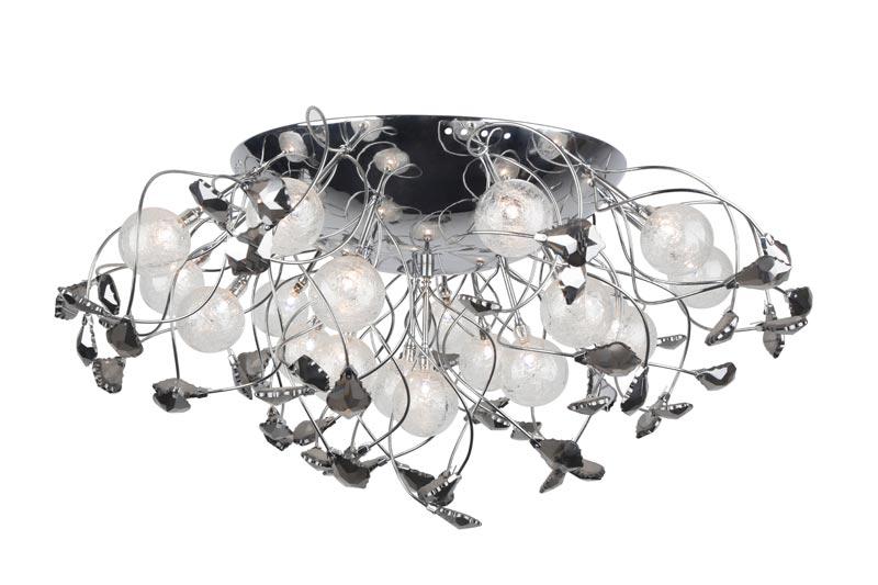 Потолочная люстра накладная A6144PL-19CC ARTE Lampнакладные<br>A6144PL-19CC. Бренд - ARTE Lamp. материал плафона - стекло. цвет плафона - прозрачный. тип цоколя - G4. тип лампы - галогеновая или LED. ширина/диаметр - 650. мощность - 20. количество ламп - 19. особенности - Дизайнерская люстра накладная.<br><br>популярные производители: ARTE Lamp<br>материал плафона: стекло<br>цвет плафона: прозрачный<br>тип цоколя: G4<br>тип лампы: галогеновая или LED<br>ширина/диаметр: 650<br>максимальная мощность лампочки: 20<br>количество лампочек: 19<br>особенности: Дизайнерская люстра накладная