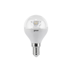 Лампа LED E14 4W 2700K 1/10/50 Gauss Globe Crystal Clear