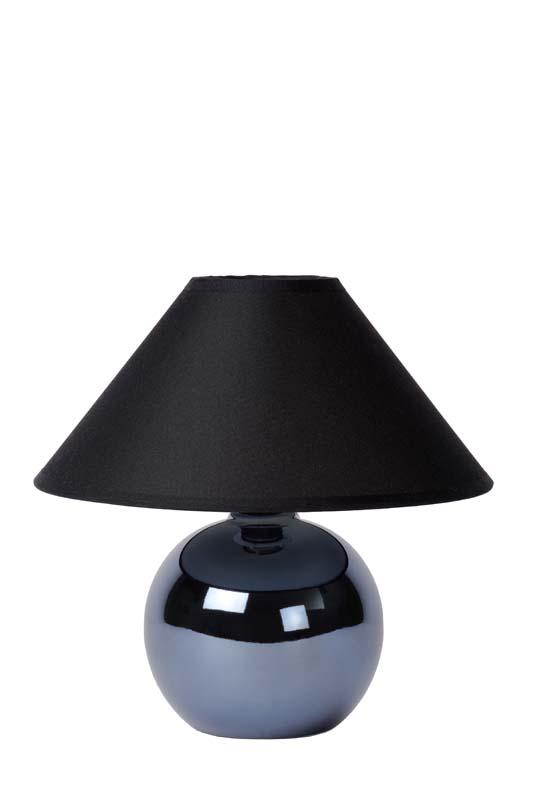 Настольная лампа 14553/81/30 LUCIDEНастольные лампы<br>FARO Table lamp Ceram. H.21cm Pearl Black. Бренд - LUCIDE. материал плафона - ткань. цвет плафона - черный. тип цоколя - E14. тип лампы - накаливания или LED. ширина/диаметр - 200. мощность - 40. количество ламп - 1.<br><br>популярные производители: LUCIDE<br>материал плафона: ткань<br>цвет плафона: черный<br>тип цоколя: E14<br>тип лампы: накаливания или LED<br>ширина/диаметр: 200<br>максимальная мощность лампочки: 40<br>количество лампочек: 1