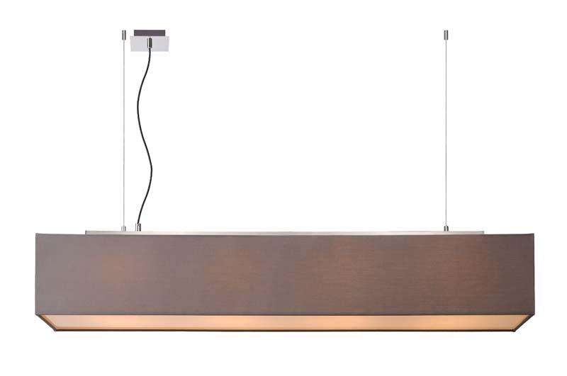 Подвесной  потолочный светильник 31458/04/36 LUCIDEподвесные<br>COLLOM Pendant 4xE27 Shade 130/22/22cm Grey. Бренд - LUCIDE. материал плафона - ткань. цвет плафона - серый. тип цоколя - E27. тип лампы - накаливания или LED. ширина/диаметр - 220. мощность - 60. количество ламп - 4.<br><br>популярные производители: LUCIDE<br>материал плафона: ткань<br>цвет плафона: серый<br>тип цоколя: E27<br>тип лампы: накаливания или LED<br>ширина/диаметр: 220<br>максимальная мощность лампочки: 60<br>количество лампочек: 4