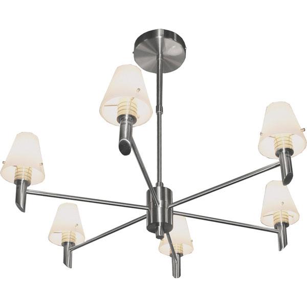 Потолочная люстра на штанге P-796/6 satin chrome N-Lightна штанге<br>P-796/6 satin chrome. Бренд - N-Light. материал плафона - стекло. цвет плафона - белый. тип цоколя - G9. тип лампы - галогеновая или LED. ширина/диаметр - 500. мощность - 40. количество ламп - 6.<br><br>популярные производители: N-Light<br>материал плафона: стекло<br>цвет плафона: белый<br>тип цоколя: G9<br>тип лампы: галогеновая или LED<br>ширина/диаметр: 500<br>максимальная мощность лампочки: 40<br>количество лампочек: 6