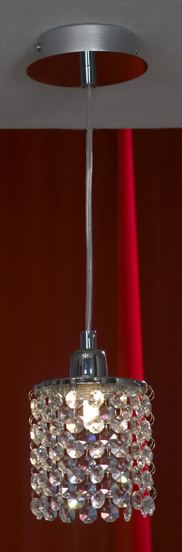 Подвесной  потолочный светильник LSJ-0406-01 Lussoleподвесные<br>LSJ-0406-01. Бренд - Lussole. материал плафона - хрусталь. цвет плафона - прозрачный. тип цоколя - G9. тип лампы - галогеновая или LED. ширина/диаметр - 100. мощность - 40. количество ламп - 1.<br><br>популярные производители: Lussole<br>материал плафона: хрусталь<br>цвет плафона: прозрачный<br>тип цоколя: G9<br>тип лампы: галогеновая или LED<br>ширина/диаметр: 100<br>максимальная мощность лампочки: 40<br>количество лампочек: 1