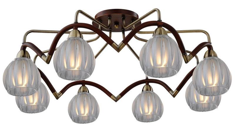 Потолочная люстра накладная 407-08-53ABWBB antique brass + walnut N-Lightнакладные<br>8*60W, E14, 230V <br>D=750mm<br>H=300mm. Бренд - N-Light. материал плафона - стекло. цвет плафона - белый. тип цоколя - E14. тип лампы - накаливания или LED. ширина/диаметр - 750. мощность - 60. количество ламп - 8.<br><br>популярные производители: N-Light<br>материал плафона: стекло<br>цвет плафона: белый<br>тип цоколя: E14<br>тип лампы: накаливания или LED<br>ширина/диаметр: 750<br>максимальная мощность лампочки: 60<br>количество лампочек: 8