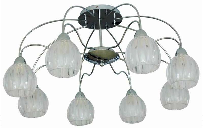 Потолочная люстра накладная SL319.102.08 ST-Luceнакладные<br>Светильник потолочный. Бренд - ST-Luce. материал плафона - стекло. цвет плафона - прозрачный. тип цоколя - E14. тип лампы - накаливания или LED. ширина/диаметр - 730. мощность - 60. количество ламп - 8.<br><br>популярные производители: ST-Luce<br>материал плафона: стекло<br>цвет плафона: прозрачный<br>тип цоколя: E14<br>тип лампы: накаливания или LED<br>ширина/диаметр: 730<br>максимальная мощность лампочки: 60<br>количество лампочек: 8