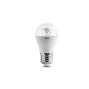 Лампа LED E27 6W 4100K диммируемая Gauss Globe Crystal Clear 1/10/50