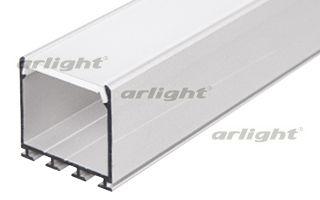 Алюминиевый анодированный профиль. для создания световых полос. Крепление к гипсокартону пружинами P Arlight