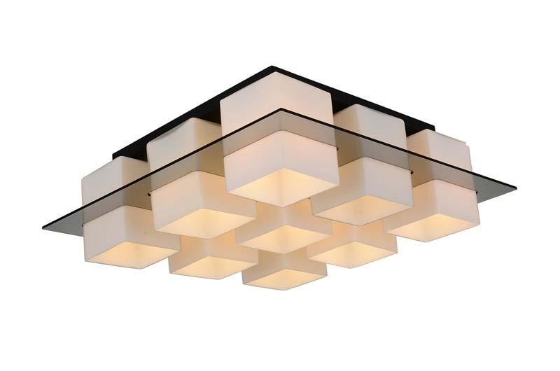 Потолочная люстра накладная SL540.502.09 ST-Luceнакладные<br>Светильник потолочный. Бренд - ST-Luce. материал плафона - стекло. цвет плафона - белый. тип цоколя - E27. тип лампы - накаливания или LED. ширина/диаметр - 590. мощность - 60. количество ламп - 9.<br><br>популярные производители: ST-Luce<br>материал плафона: стекло<br>цвет плафона: белый<br>тип цоколя: E27<br>тип лампы: накаливания или LED<br>ширина/диаметр: 590<br>максимальная мощность лампочки: 60<br>количество лампочек: 9