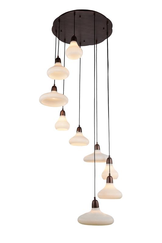 Подвесной  потолочный светильник SL712.803.09 ST-Luceподвесные<br>Люстра подвесная. Бренд - ST-Luce. материал плафона - стекло. цвет плафона - белый. тип цоколя - E27. тип лампы - накаливания или LED. ширина/диаметр - 300. мощность - 60. количество ламп - 9.<br><br>популярные производители: ST-Luce<br>материал плафона: стекло<br>цвет плафона: белый<br>тип цоколя: E27<br>тип лампы: накаливания или LED<br>ширина/диаметр: 300<br>максимальная мощность лампочки: 60<br>количество лампочек: 9