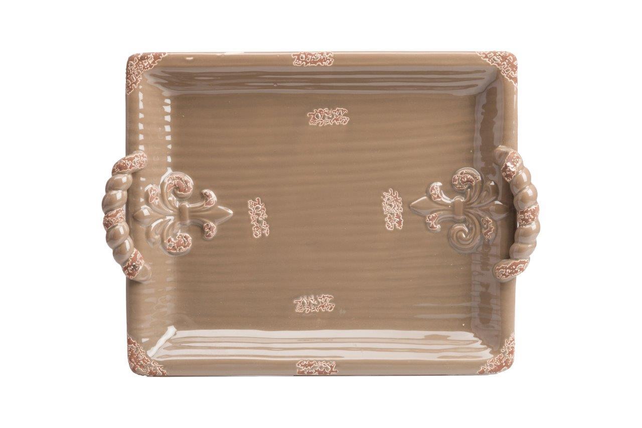 Декоративный поднос Glen DG-HOMEДекоративные тарелки и блюда<br>. Бренд - DG-HOME. ширина/диаметр - 330. материал - Керамика. цвет - коричневый.<br><br>популярные производители: DG-HOME<br>ширина/диаметр: 330<br>материал: Керамика<br>цвет: коричневый