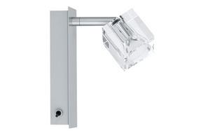 Бра 60027 PaulmannНастенные и бра<br>Светильник настенный Ice Cube 1x35W, GU4, 230V хром матавый (с вкл). Бренд - Paulmann. материал плафона - стекло. цвет плафона - прозрачный. тип цоколя - GU4. тип лампы - галогеновая или LED. ширина/диаметр - 65. мощность - 35. количество ламп - 1.<br><br>популярные производители: Paulmann<br>материал плафона: стекло<br>цвет плафона: прозрачный<br>тип цоколя: GU4<br>тип лампы: галогеновая или LED<br>ширина/диаметр: 65<br>максимальная мощность лампочки: 35<br>количество лампочек: 1