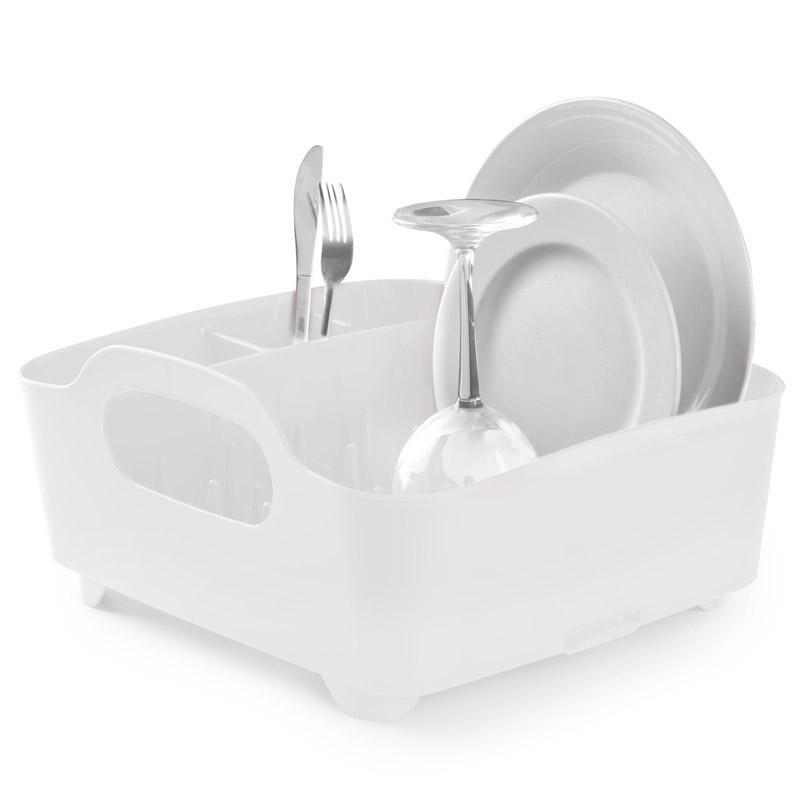 Сушилка для посуды tub белая UmbraМелочи для кухни<br>. Бренд - Umbra. материал - полипропилен. цвет - белый.<br><br>популярные производители: Umbra<br>материал: полипропилен<br>цвет: белый