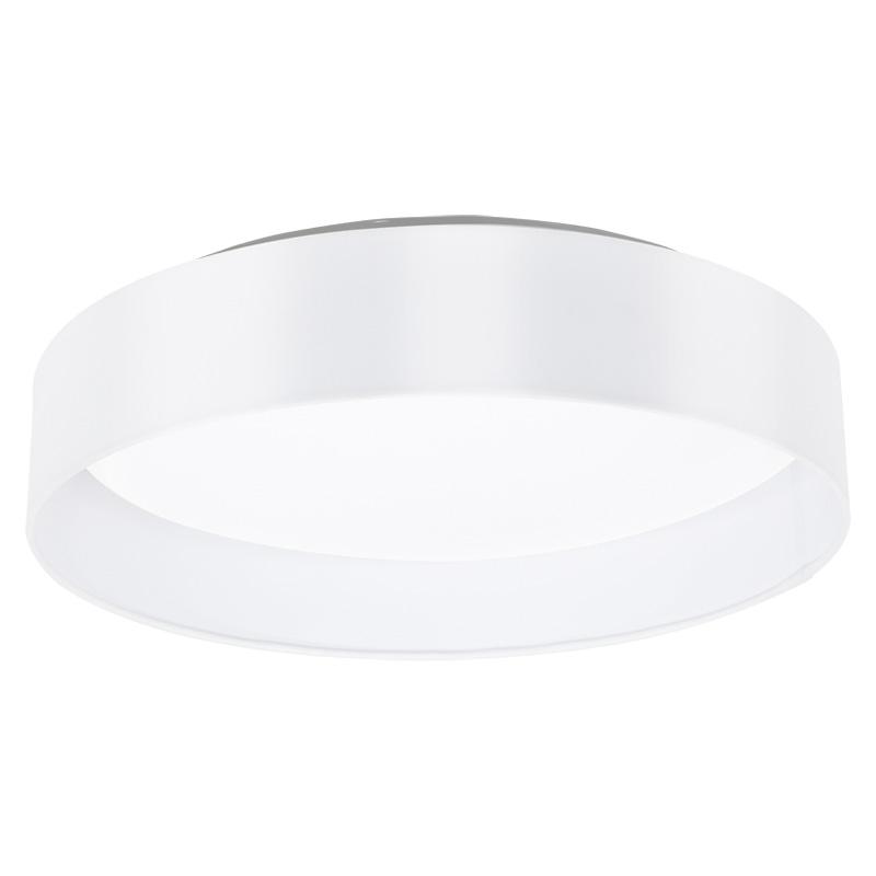 Потолочная люстра накладная 31621 EGLOнакладные<br>Светодиодный светильник потолочный MASERLO, 18W (LED), ?405, белый/текстиль, белый. Бренд - EGLO. материал плафона - ткань. цвет плафона - белый. тип лампы - LED. ширина/диаметр - 405. мощность - 18.<br><br>популярные производители: EGLO<br>материал плафона: ткань<br>цвет плафона: белый<br>тип лампы: LED<br>ширина/диаметр: 405<br>максимальная мощность лампочки: 18