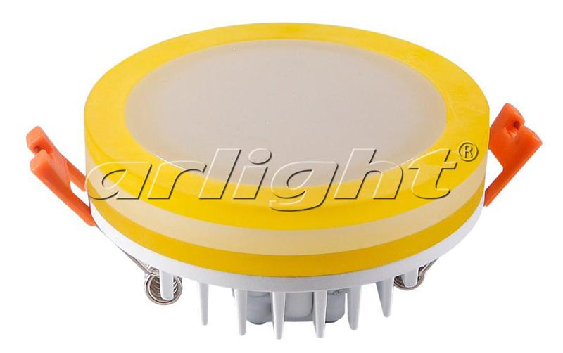Точечный светильник 020834 Arlightвстраиваемые<br>Круглый светильник с контурным свечением. Корпус белый с желтым + вставка поликарбонат PC. Цвет БЕЛЫЙ ДНЕВНОЙ 4000К, св.поток 800 лм, угол 120°+180°. Питание 110-240VAC (драйвер в к-те 300mA 27-42V), мощность 10Вт. Размеры 95х40 мм, установка в отв.80 мм,.... Бренд - Arlight. материал плафона - пластик. цвет плафона - белый. тип лампы - LED. ширина/диаметр - 95. мощность - 10. количество ламп - 1.<br><br>популярные производители: Arlight<br>материал плафона: пластик<br>цвет плафона: белый<br>тип лампы: LED<br>ширина/диаметр: 95<br>максимальная мощность лампочки: 10<br>количество лампочек: 1
