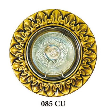 Точечный светильник 085 CU Heliosвстраиваемые<br>085 CU испанская патина точечный светильник 085 CU. Бренд - Helios. тип цоколя - GU5.3. тип лампы - галогеновая или LED. ширина/диаметр - 85. мощность - 50. количество ламп - 1.<br><br>популярные производители: Helios<br>тип цоколя: GU5.3<br>тип лампы: галогеновая или LED<br>ширина/диаметр: 85<br>максимальная мощность лампочки: 50<br>количество лампочек: 1