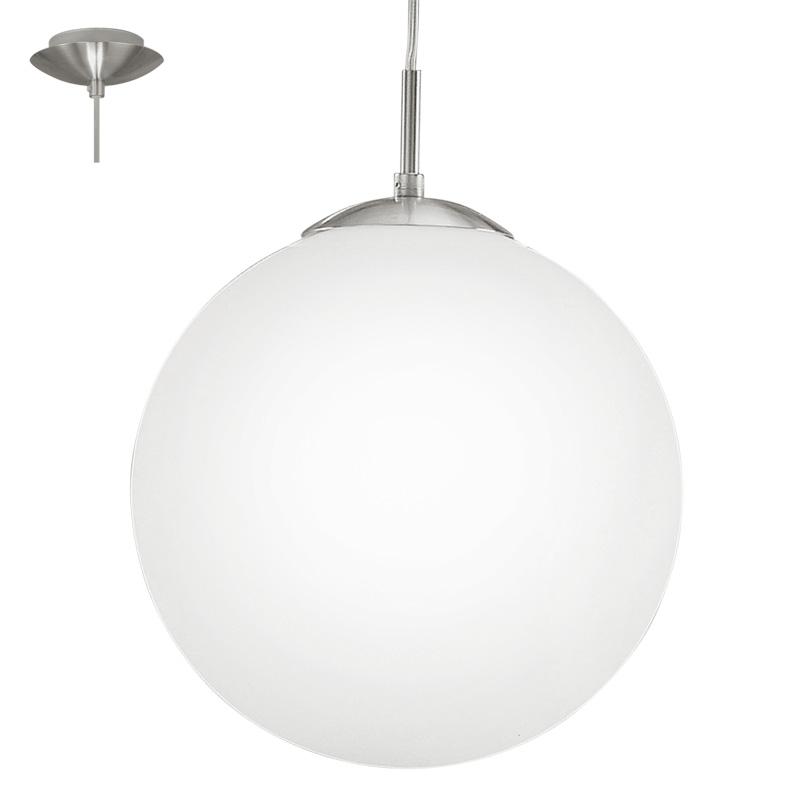 Подвесной  потолочный светильник 93199 EGLOподвесные<br>Светодиодный подвес RONDO 1, 1X7W (E27), ?300, никель/опаловое стекло, белый. Бренд - EGLO. материал плафона - стекло. цвет плафона - белый. тип цоколя - E27. тип лампы - накаливания или LED. ширина/диаметр - 300. мощность - 7. количество ламп - 1.<br><br>популярные производители: EGLO<br>материал плафона: стекло<br>цвет плафона: белый<br>тип цоколя: E27<br>тип лампы: накаливания или LED<br>ширина/диаметр: 300<br>максимальная мощность лампочки: 7<br>количество лампочек: 1