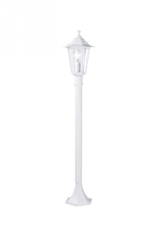 Светильник уличный 22995 EGLOСадово-парковые<br>Уличный светильник напольный LATERNA 5, 1х60W (E27), H1000, алюминий, белый/стекло. Бренд - EGLO. материал плафона - стекло. цвет плафона - прозрачный. тип цоколя - E27. тип лампы - накаливания или LED. ширина/диаметр - 205. мощность - 60. количество ламп - 1.<br><br>популярные производители: EGLO<br>материал плафона: стекло<br>цвет плафона: прозрачный<br>тип цоколя: E27<br>тип лампы: накаливания или LED<br>ширина/диаметр: 205<br>максимальная мощность лампочки: 60<br>количество лампочек: 1