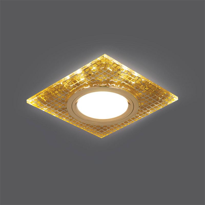 Точечный светильник BL077 Gaussвстраиваемые<br>Светильник Gauss Backlight BL077 Квадрат. Золото/Кристалл/Золото, Gu5.3, LED 2700K 1/40. Бренд - Gauss. материал плафона - стекло. цвет плафона - золотой. тип цоколя - GU5.3. тип лампы - галогеновая или LED. ширина/диаметр - 90. мощность - 50. количество ламп - 1.<br><br>популярные производители: Gauss<br>материал плафона: стекло<br>цвет плафона: золотой<br>тип цоколя: GU5.3<br>тип лампы: галогеновая или LED<br>ширина/диаметр: 90<br>максимальная мощность лампочки: 50<br>количество лампочек: 1