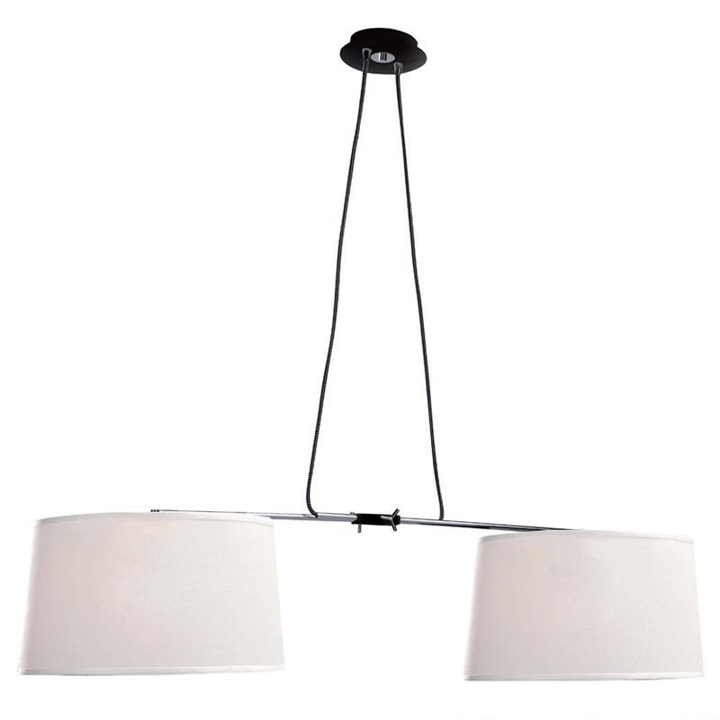 Подвесной  потолочный светильник 5307+5308подвесные<br>CHANDELIER E27. Бренд - Mantra. тип лампы - накаливания или LED. количество ламп - 2. тип цоколя - E27. мощность лампы - 23. цвет арматуры - черный. цвет плафона - кремовый. материал арматуры - металл. материал плафона - ткань. высота - 1500. ширина/диаметр - 370. длина - 1000. степень защиты ip - 20. форма - круг. стиль - модерн. страна происхождения - Испания. коллекция - HABANA. напряжение - 220.<br><br>Бренд: Mantra<br>тип лампы: накаливания или LED<br>количество ламп: 2<br>тип цоколя: E27<br>мощность лампы: 23<br>цвет арматуры: черный<br>цвет плафона: кремовый<br>материал арматуры: металл<br>материал плафона: ткань<br>высота: 1500<br>ширина/диаметр: 370<br>длина: 1000<br>степень защиты ip: 20<br>форма: круг<br>стиль: модерн<br>страна происхождения: Испания<br>коллекция: HABANA<br>напряжение: 220