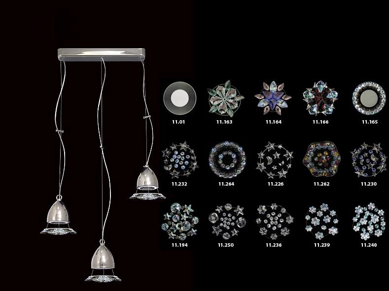 Подвесной  потолочный светильник 12.L.30.6 Ovaxподвесные<br>Светильник Swarovski Liana (3 подвеса), хром (MR-16). Бренд - Ovax. материал плафона - Swarovski STRAASS. цвет плафона - белый. тип цоколя - G9. тип лампы - галогеновая или LED. ширина/диаметр - 470. мощность - 60. количество ламп - 3.<br><br>популярные производители: Ovax<br>материал плафона: Swarovski STRAASS<br>цвет плафона: белый<br>тип цоколя: G9<br>тип лампы: галогеновая или LED<br>ширина/диаметр: 470<br>максимальная мощность лампочки: 60<br>количество лампочек: 3
