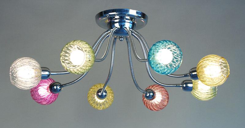 Потолочная люстра накладная CL604181 Citiluxнакладные<br>CL604181 Попурри Св-к Люстра. Бренд - Citilux. материал плафона - стекло. цвет плафона - разноцветный. тип цоколя - E14. тип лампы - накаливания или LED. мощность - 60. количество ламп - 8.<br><br>популярные производители: Citilux<br>материал плафона: стекло<br>цвет плафона: разноцветный<br>тип цоколя: E14<br>тип лампы: накаливания или LED<br>максимальная мощность лампочки: 60<br>количество лампочек: 8