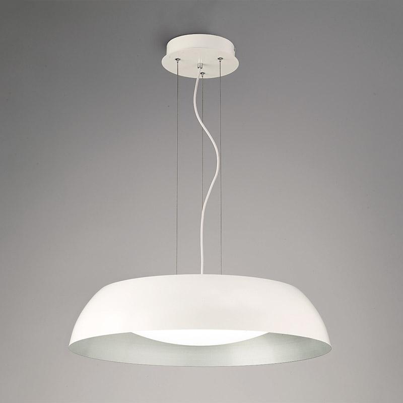 Подвесной  потолочный светильник 4842 Mantraподвесные<br>WHITE/SILVER. Бренд - Mantra. материал плафона - пластик. цвет плафона - белый. тип лампы - LED. ширина/диаметр - 600. мощность - 30. количество ламп - 1.<br><br>популярные производители: Mantra<br>материал плафона: пластик<br>цвет плафона: белый<br>тип лампы: LED<br>ширина/диаметр: 600<br>максимальная мощность лампочки: 30<br>количество лампочек: 1