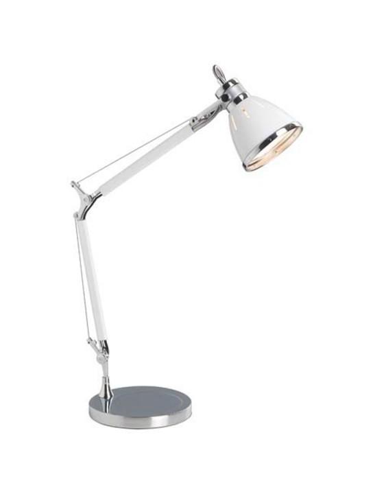 Настольная лампа 92708_75 BrilliantНастольные лампы<br>92708_75 Настольная лампа офисная Octavia 92708_75. Бренд - Brilliant. материал плафона - металл. цвет плафона - белый. тип цоколя - E27. тип лампы - накаливания или LED. ширина/диаметр - 210. мощность - 40. количество ламп - 1.<br><br>популярные производители: Brilliant<br>материал плафона: металл<br>цвет плафона: белый<br>тип цоколя: E27<br>тип лампы: накаливания или LED<br>ширина/диаметр: 210<br>максимальная мощность лампочки: 40<br>количество лампочек: 1
