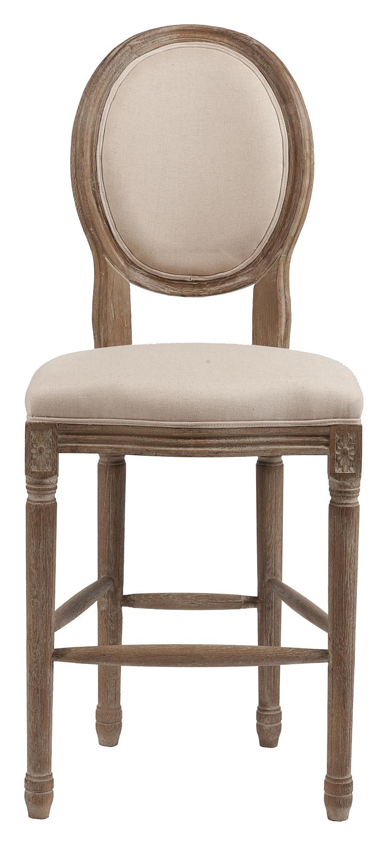 Барный стул Vintage French Round Кремовый Лен DG-HOMEСтулья<br>. Бренд - DG-HOME. материал - Ткань, Поролон, Дерево.<br><br>популярные производители: DG-HOME<br>ширина/диаметр: 0<br>материал: Ткань, Поролон, Дерево