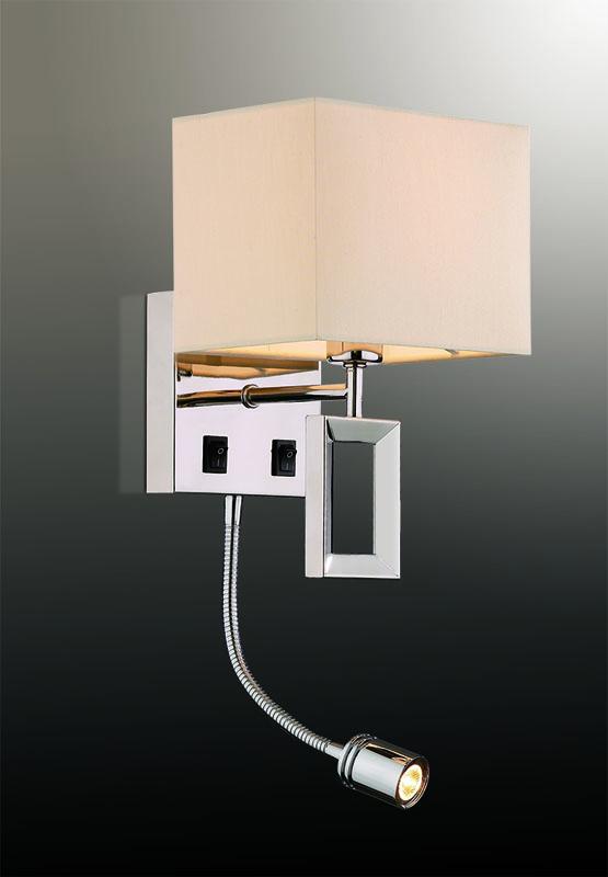 Бра 2197/1A Odeon LightНастенные и бра<br>2197/1A ODL12 515 хром/абажур/бежевый Бра c выкл  E14, LED 40W+1W LED 220V ATOLO. Бренд - Odeon Light. материал плафона - ткань. цвет плафона - белый. тип цоколя - E14. тип лампы - галогеновая или LED. ширина/диаметр - 170. мощность - 40. количество ламп - 1.<br><br>популярные производители: Odeon Light<br>материал плафона: ткань<br>цвет плафона: белый<br>тип цоколя: E14<br>тип лампы: галогеновая или LED<br>ширина/диаметр: 170<br>максимальная мощность лампочки: 40<br>количество лампочек: 1