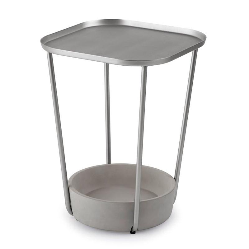 Столик придиванный tavalo никель Fine DesignСтолики<br>. Бренд - Fine Design. материал - бетон, металл.<br><br>популярные производители: Fine Design<br>материал: бетон, металл