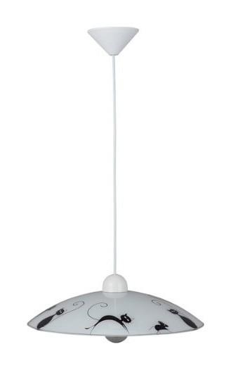 Подвесной  потолочный светильник 05970_75 Brilliantподвесные<br>05970_75 Подвесной светильник Cat 05970_75. Бренд - Brilliant. материал плафона - стекло. цвет плафона - белый. тип цоколя - E27. тип лампы - накаливания или LED. ширина/диаметр - 400. мощность - 60. количество ламп - 1.<br><br>популярные производители: Brilliant<br>материал плафона: стекло<br>цвет плафона: белый<br>тип цоколя: E27<br>тип лампы: накаливания или LED<br>ширина/диаметр: 400<br>максимальная мощность лампочки: 60<br>количество лампочек: 1