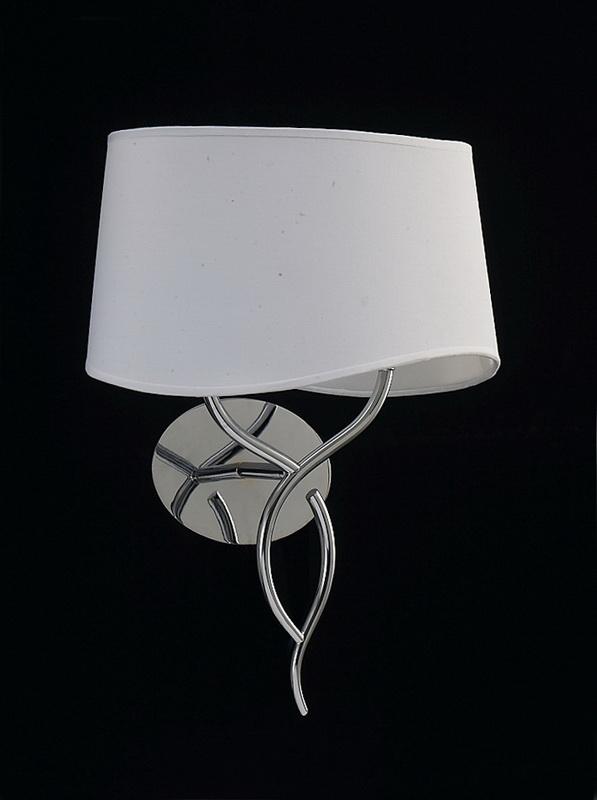 Бра 1903 MantraНастенные и бра<br>CHROME - CREAM SHADE. Бренд - Mantra. материал плафона - ткань. цвет плафона - белый. тип цоколя - E14. тип лампы - накаливания или LED. ширина/диаметр - 340. мощность - 20. количество ламп - 2.<br><br>популярные производители: Mantra<br>материал плафона: ткань<br>цвет плафона: белый<br>тип цоколя: E14<br>тип лампы: накаливания или LED<br>ширина/диаметр: 340<br>максимальная мощность лампочки: 20<br>количество лампочек: 2