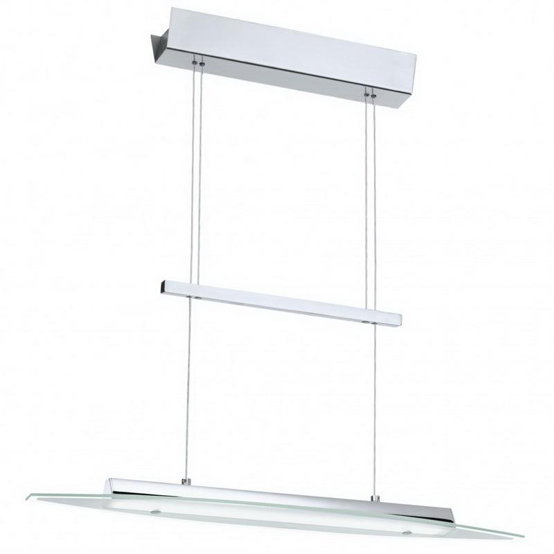 Подвесной  потолочный светильник 90816 EGLOподвесные<br>Светодиодный подвес RUFO, 4X4,5W (LED) с регулировкой высоты, H810-1500, L650, хром/сатиновое стекло. Бренд - EGLO. материал плафона - стекло. цвет плафона - прозрачный. тип лампы - LED. ширина/диаметр - 650. мощность - 3.67. количество ламп - 4.<br><br>популярные производители: EGLO<br>материал плафона: стекло<br>цвет плафона: прозрачный<br>тип лампы: LED<br>ширина/диаметр: 650<br>максимальная мощность лампочки: 3.67<br>количество лампочек: 4