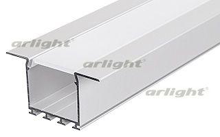 Алюминиевый анодированный встраиваемый профиль для создания световых полос. Крепление к гипсокартону Arlight